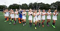 BREDA - Oranje bedankt het publiek de finale van het Volvo Invitatie Toernooi U21 tussen de vrouwen van Nederland en China (5-1) . COPYRIGHT KOEN SUYK