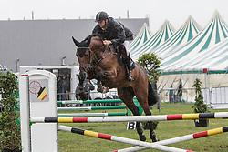 Vrins Nick (BEL) - Iceberg ST<br /> 4j springen<br /> Nationale wedstrijd LRV jonge paarden - Lommel 2012<br /> © Dirk Caremans