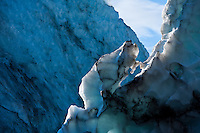 Falljökull - The Falling Glacier - is one of many outlet glaciers that descend from the main glacier plateau of Vatnajökull. It is quite steep so the ice formations are dramatic.