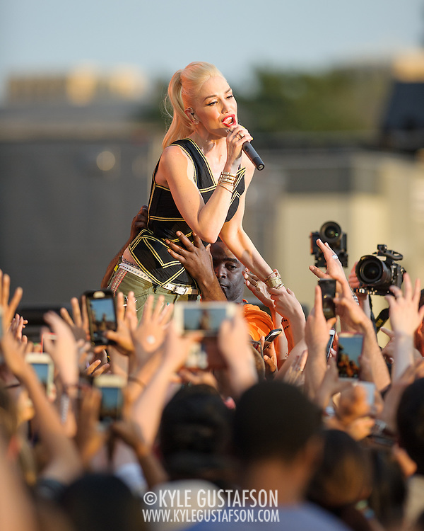 WASHINGTON, D.C. - April 18th, 2015 - Gwen Stefani of No Doubt performs at the Global Citizen 2015 Earth Day concert on the National Mall in Washington, D.C. (Photo by Kyle Gustafson / For The Washington Post)