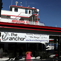 The Anchor, a local church meets for service Sunday June 1, 2014 on the Wilmington, N.C. waterfront. (Jason A. Frizzelle)