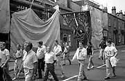Easington Lodge banner. NUM Centenary Demonstration and Gala, Barnsley.