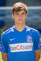 Genk's Timothy Castagne pictured during the 2015-2016 season photo shoot of Belgian first league soccer team KRC Genk, Friday 10 July 2015 in Genk