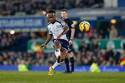 Saido Berahino of West Brom shoots - Photo mandatory by-line: Rogan Thomson/JMP - 07966 386802 - 19/01/2015 - SPORT - FOOTBALL - Liverpool, England - Goodison Park - Everton v West Bromwich Albion - Barclays Premier League.