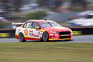 BATHURST, NSW - OCTOBER 04: Fabian Coulthard in the Shell V-Power Racing Team Ford Falcon at the Supercheap Auto Bathurst 1000 V8 Supercar Race at Mount Panorama Circuit in Bathurst, Australia. (Photo by Speed Media/Icon Sportswire)