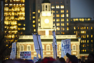 Hundreds gather in protest of the Inauguration of Donald Trump as the 45th President of the United States, and his anti-immigrant rhetoric.