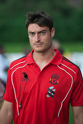 ZUG, SWITZERLAND - Wednesday, July 21, 2010: Liverpool's Albert Riera before the Reds' first preseason match of the 2010/2011 season against Grasshopper Club Zurich at the Herti Stadium. (Pic by David Rawcliffe/Propaganda)