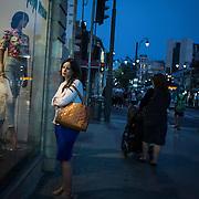 A woman window shops Thursday, June 19, 2014 in Jerusalem, Israel. (Brian Cassella/Chicago Tribune)  B583846463Z.1<br /> ....OUTSIDE TRIBUNE CO.- NO MAGS,  NO SALES, NO INTERNET, NO TV, CHICAGO OUT, NO DIGITAL MANIPULATION...