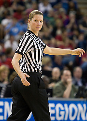 March 27, 2010; Sacramento, CA, USA; NCAA referee Penny Davis during the second half of the game between the Stanford Cardinal and the Georgia Bulldogs in the semifinals of the Sacramental regional in the 2010 NCAA womens basketball tournament at ARCO Arena.  Stanford defeated Georgia 73-36.