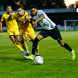 APRIL 1:  Dover Athletic against Bromley in Conference Premier at Crabble Stadium in Dover, England. Dover's forward Kane Richards makes a surge towards goal. (Photo by Matt Bristow/mattbristow.net)