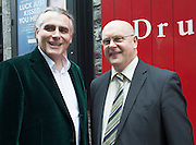 """Paul Fahy GIAF and Brendan Moran Chief Executive Galway City Council at the World Premiere of the """"Luck Just Kissed you Hello""""by Amy Conroy in the Mick Lally theatre (Druid) on the opening night of Galway international Arts Festival. Photo:andrew Downes xposure"""