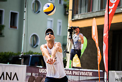 Danijel Pokersnik of SK Vienpi during Qlandia Beach Challenge 2015 and Beach Volleyball Slovenian National Championship 2015, on July 25, 2015 in Kranj, Slovenia. Photo by Ziga Zupan / Sportida