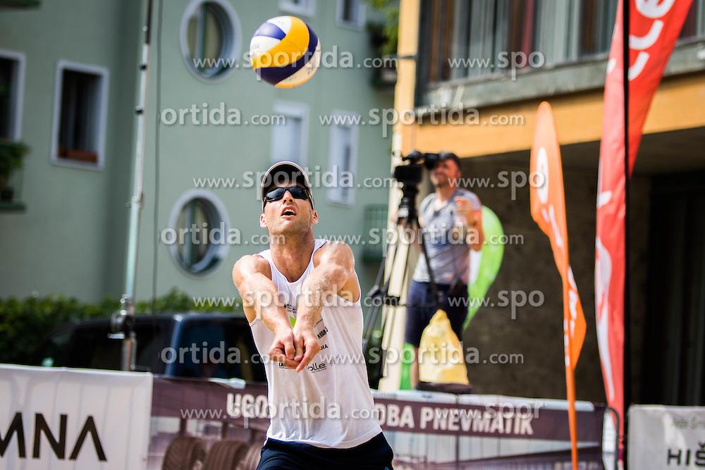 Danijel Pokersnik of SK Vienpi during Qlandia Beach Challenge 2015 and Beach Volleyball Slovenian National Championship 2015, on July 25, 2015 in Kranj, Slovenia. Photo by Ziga Zupan / Sportida