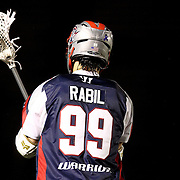 Paul Rabil #99 of the Boston Cannons is seen during the game at Harvard Stadium on May 10, 2014 in Boston, Massachusetts. (Photo by Elan Kawesch)