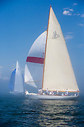 Gleam, 12 Meter Class, sailing in the Robert H. Tiedemann Classic Yachting Weekend race 1.