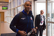 Bolton Wanderers Chris O'Grady Before the EFL Sky Bet League 1 match between Bolton Wanderers and Wycombe Wanderers at the University of  Bolton Stadium, Bolton, England on 15 February 2020.