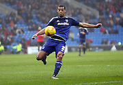 Cardiff City defender, Lee Peltier (2) during the Sky Bet Championship match between Cardiff City and Brighton and Hove Albion at the Cardiff City Stadium, Cardiff, Wales on 20 February 2016.