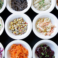 The assortment of salads menu item, which includes 10-12 menu items, is photographed on Monday, May 9, 2011 at Gbanzo Bar & Grill in Rancho Mirage, Calif. Crystal Chatham, The Desert Sun