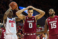 DALLAS, TX - FEBRUARY 19: Obi Enechionyia #0 of the Temple Owls reacts after receiving his 4th foul against the SMU Mustangs on February 19, 2015 at Moody Coliseum in Dallas, Texas.  (Photo by Cooper Neill/Getty Images) *** Local Caption *** Obi Enechionyia