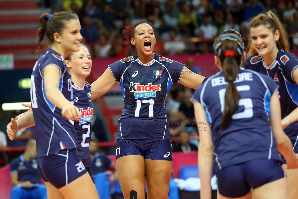 18-06-2016 ITA: World Grand Prix Italie - Nederland, Bari<br /> Nederland wint opnieuw van Italie, het ging moeizaam maar de 3-1 winst was genoeg / Valentina Diouf #17 of Italie<br /> <br /> ***NETHERLANDS ONLY***