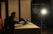 FUDBAL, BEOGRAD, 12. Dec. 2009. - Proslavljeni fudbaler Partizana Savo Milosevic, obelodanio je kandidatiru za mesto predsednika FK Partizan na konferenciji za novinare u hotelu Hajat. Foto: Nenad Negovanovic