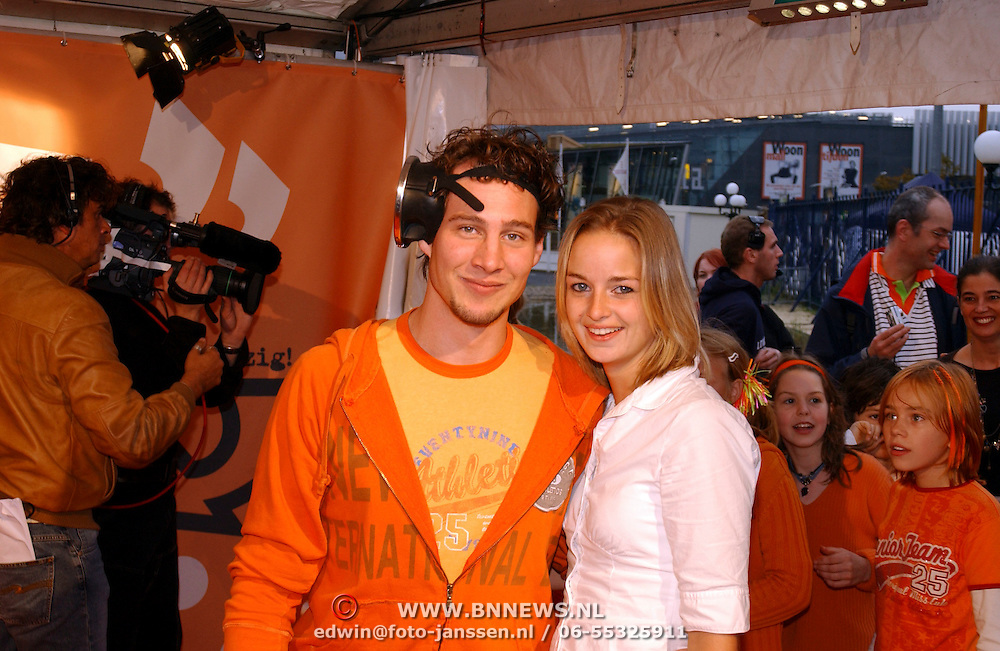 Uitreiking Kids Choice Awards 2004, Eric Bouwman en vriendin, Idols