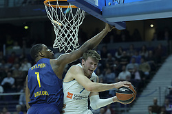 December 14, 2017 - Madrid, Spain - Luka Doncic  of Real Madrid during the 2017/2018 Turkish Airlines Euroleague Regular Season Round 12 game between Real Madrid v FC Barcelona Lassa at Wizink Arena on December 14, 2017 in Madrid, Spain  (Credit Image: © Oscar Gonzalez/NurPhoto via ZUMA Press)