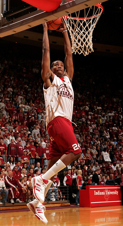 12 October 2007: Indiana forward Brandon McGee (24) as the Indiana Hoosiers opened their 2007-08 season with Hoosier hysteria in Bloomington, Ind.