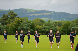 WREXHAM, WALES - Monday, August 18, 2008: Wales players training at Colliers Park ahead of their UEFA European U21 Championship Group 10 Qualifying match against Romania. (Photo by David Rawcliffe/Propaganda)