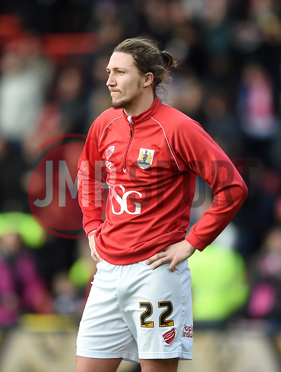 Bristol City's Luke Ayling ahead of the FA Cup fourth round tie between Bristol City and West Ham United at Ashton Gate on 25 January 2015 in Bristol, England - Photo mandatory by-line: Paul Knight/JMP - Mobile: 07966 386802 - 25/01/2015 - SPORT - Football - Bristol - Ashton Gate - Bristol City v West Ham United - FA Cup fourth round