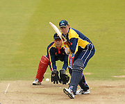 London, GREAT BRITAIN, Europes Trent JOHNSTON, lines himself up for the shot, during the MCC vs Europe Match at Lords Cricket ground, England on Thur 07.06.2007  [Photo, Peter Spurrier/Intersport-images].....