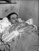23/03/1960<br /> 03/23/1960<br /> 23 March 1960<br /> Thomas Murphy hunger striker. The 52 year-old Dundalk man started his protest because he felt he was being denied the right to carry on business through the refusal of the manufacturers to supply him with certain television sets. Father of seven children, he claimed hat the manufacturers were under pressure from a neighbouring firm.   Picture shows Mr. Murphy at his shop on Tara Street on his third day of protest.