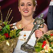 NLD/Amsterdam/20161221 - NOC*NSF Sportgala 2016, Sanne Wevers is verkozen tot Sportvrouw van het Jaar