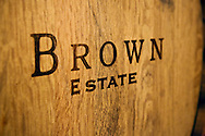 Brown Estate wine barrel