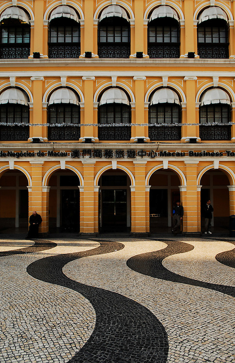 Renovated Portuguese architecture, Largo do Senado, Macau