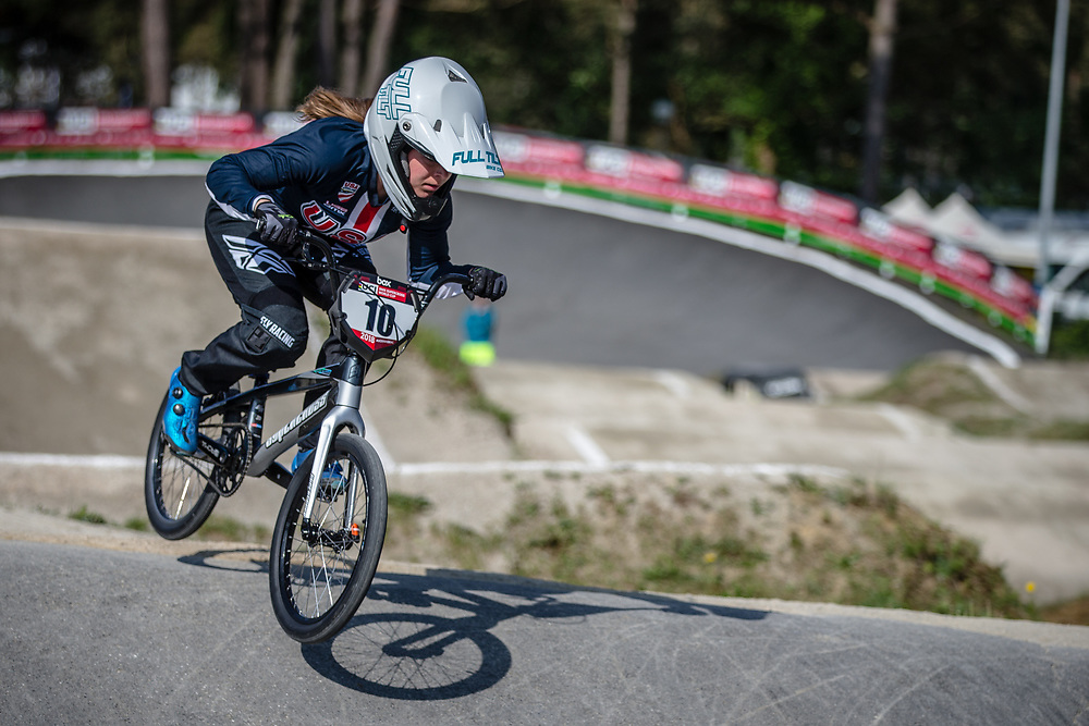 #10 (RENO Shealen) USA during practice at Round 5 of the 2018 UCI BMX Superscross World Cup in Zolder, Belgium