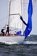 Columbia sailing in the Nantucket 12 Metre Class Regatta, day two.