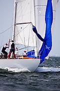 Columbia sailing in the Nantucket 12 Metre Class Regatta, day two.