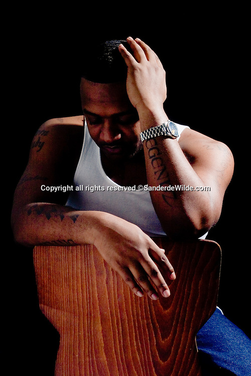 Portrait of American musician, rapper and songwriter Mista Latex. ©sanderdewilde.com photographer in Brussels