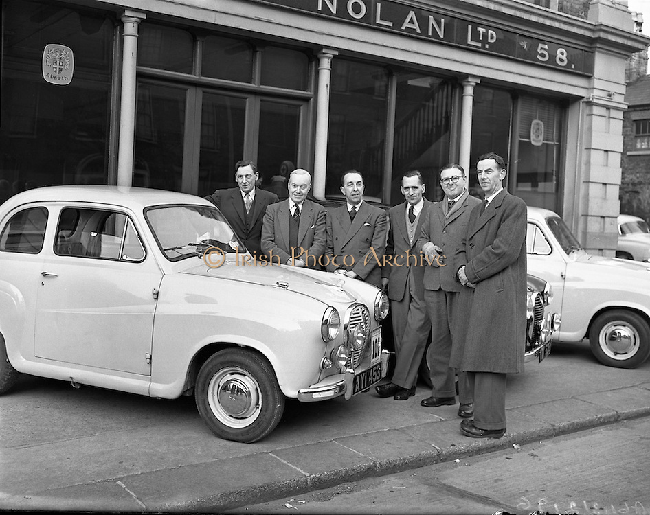 03/04/1958 <br /> 04/03/1958<br /> 03 April 1958<br /> <br /> Circuit of Ireland Drivers at Lincoln and Nolan