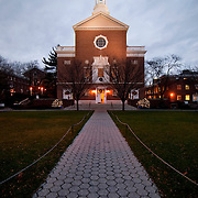 December 5, 2010 - Bronx, NY : Manhattan College hosted its annual evening of holiday music this past Sunday in in the Collegeís Chapel of De La Salle and His Brothers. The college's chapel and its Senior Walk.