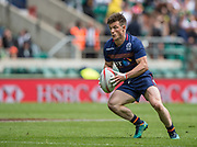 Twickenham, Surrey United Kingdom. Scotlands, George HORNE,  during the Pool B match, Scotland vs Argentina at the  &quot;2017 HSBC London Rugby Sevens&quot;,  Saturday 20/05/2017 RFU. Twickenham Stadium, England    <br /> <br /> [Mandatory Credit Peter SPURRIER/Intersport Images]