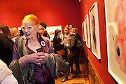 VIVIENNE WESTWOOD, Do Not Abandon Me - private view od wok by Tracey Emin alongside that of Louise Bourgeois. <br /> Hauser & Wirth London, 15 Old Bond Street, London, 17 February 2011. -DO NOT ARCHIVE-© Copyright Photograph by Dafydd Jones. 248 Clapham Rd. London SW9 0PZ. Tel 0207 820 0771. www.dafjones.com.