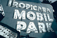Tropicana  Mobil Park neon sign