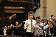 """Catholic high schools from the dioceses of Chicago, Rockford and Joliet are gathered for a mass at Holy Name Cathedral promoting service leadership in the church under the theme """"A Call To Serve""""."""