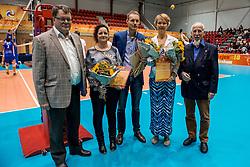 02-10-2016 NED: Supercup Abiant Lycurgus - Coniche Topvolleybal Zwolle, Doetinchem<br /> Lycurgus wint de Supercup door Zwolle met 3-0 te verslaan / Volleybal award 2016 gaat naar Accretos