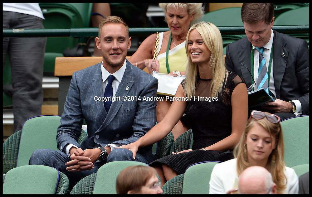 Image ©Licensed to i-Images Picture Agency. 28/06/2014, Wimbledon, London, United Kingdom. in the Royal box on Day 6 of the Wimbledon Tennis Championship. Picture by Andrew Parsons / i-Images