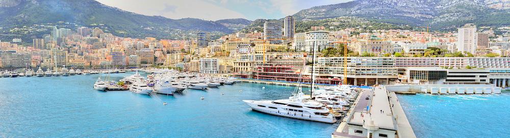 Monte Carlo, Monaco, from the sea.