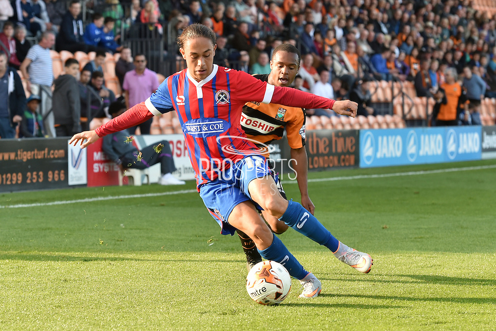 Jodi Jones of Dagenham and Redbridge  during the Sky Bet League 2 match between Barnet and Dagenham and Redbridge at Hive Stadium, London, England on 26 September 2015. Photo by Ian Lyall.
