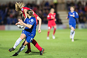 Chelsea Ladies Fran Kirby (14) during the UEFA Women's Champions League quarter final second leg match between Chelsea Ladies and Montpellier Feminines at the Kings Sports Ground, New Malden, United Kingdom on 28 March 2018. Picture by Robin Pope.